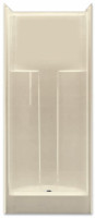 Aquarius Gelcoat 31.875 x 32 Residential Shower Smooth Wall w/ Center Drain - G3280SH