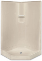 Aquarius Gelcoat 41 x 41 Residential Corner Shower 2-Piece Sectional w/ Center Drain - G4080NA2P
