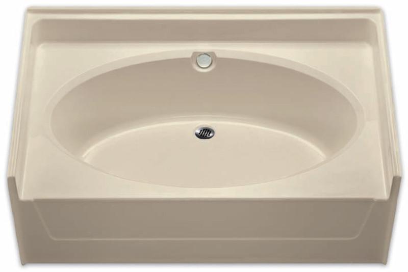 aquarius 60 x 37 residential gelcoat oval soaking tub drain center g6037to - Soaking Tub