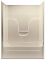 Aquarius Gelcoat 60 x 32.5 Residential Tub Shower Combination 2-Piece Sectional w/ Right Side Drain - G6017TS2PR
