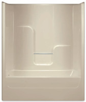 Aquarius Gelcoat 60 x 32 Residential Tub Shower Combination Smooth Wall w/ Right Side Drain - G6004TSR