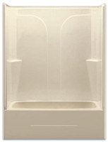 Aquarius Gelcoat 54 x 27.25 Residential Tub Shower Combination 2-Piece Sectional w/ Right Side Drain - G5494TS2PR