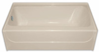Aquarius 54 x 32 Residential Gelcoat Rectangular Soaking Tub - Drain Right - G5432TOR