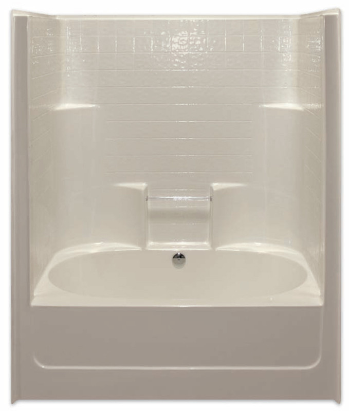 Aquarius Gelcoat 60 X Residential Tub Shower Combination Simulated Tile