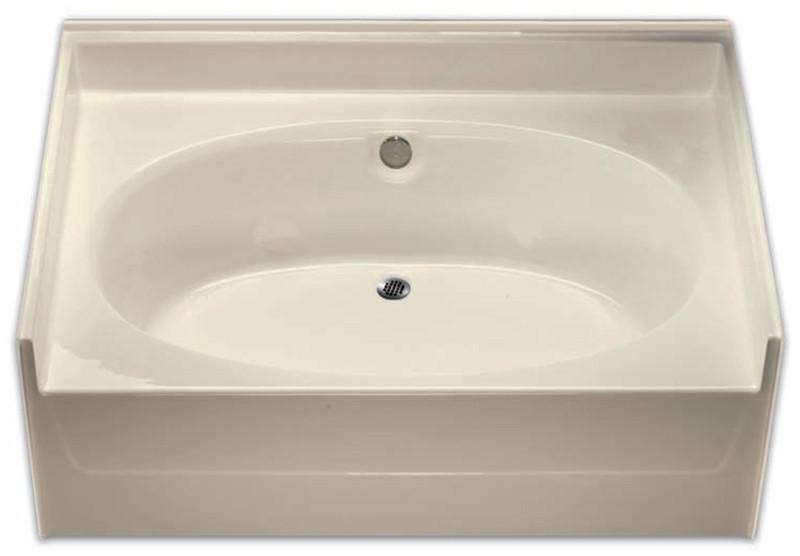 aquarius 60 x 42 residential gelcoat oval soaking tub drain center g6040to - Soaking Tub