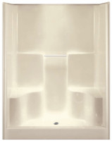 Aquarius G6077SH2S | 60W x 36D x 78.5H Shower | Soap dishes two molded seats | Center Drain