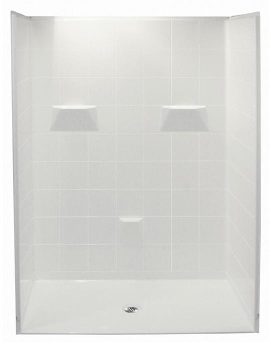 Ordinaire Aquarius 60 X 31 Barrier Free Gelcoat Shower Stall | 5 Piece | .75 ...