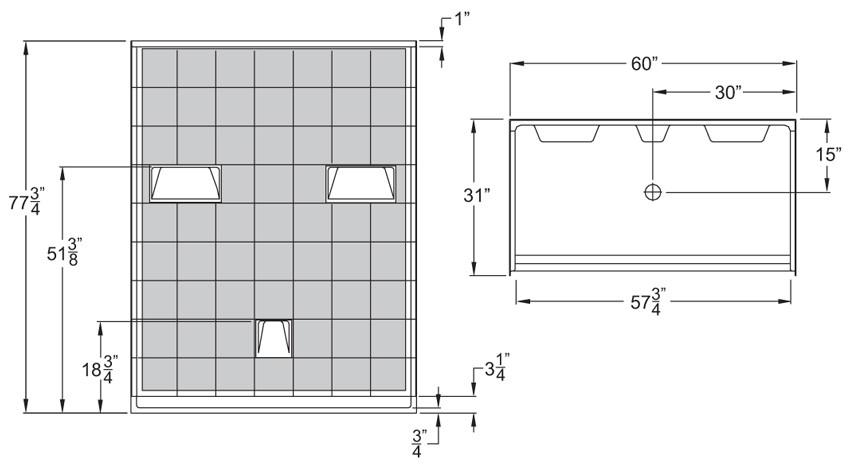 ... Aquarius 60 X 31 Barrier Free Gelcoat Shower Stall | 5 Piece | .75 ...