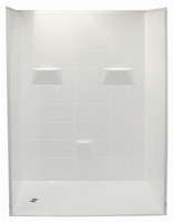 "Aquarius 50"" x 50"" Barrier Free Gelcoat Shower Stall 