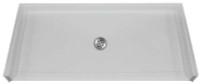 Aquarius MPB 5050 BF 1.0 C   50.25W x 50.125D x 4.5H   Four foot interior dimension   AcrylX™ barrier-free shower base