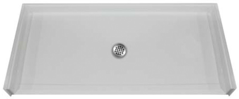 Aquarius MPB 6030 BF .75 C   60W x 31D x 4.25H   Five foot AcrylX™ barrier-free shower Base   EasyBase™   Center Drain