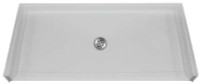 "Aquarius 60 x 30 Gelcoat Shower Base With 3/4"" Barrier Free Threshold - Center Drain - MPB 6030 BF .75"