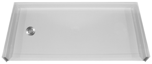 Barrier free shower base 60 x 30 mpb 6030 bf 1 0 l - 30 x 60 shower pan ...