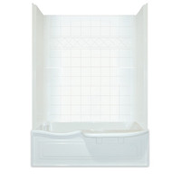 Aquarius Choose Home Series 60 x 32 Tub Shower Combination 2 Piece w/ Transfer Seat - CHA 6034 TS