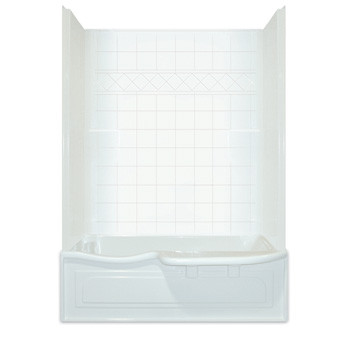 Aquarius Choose Home Series 60 X 32 Tub Shower Combination 2 Piece W/  Transfer Seat   CHA 6034 TS