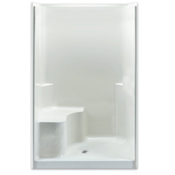 "Aquarius Gelcoat Smooth Wall Shower Enclosure 48"" x 37"" 
