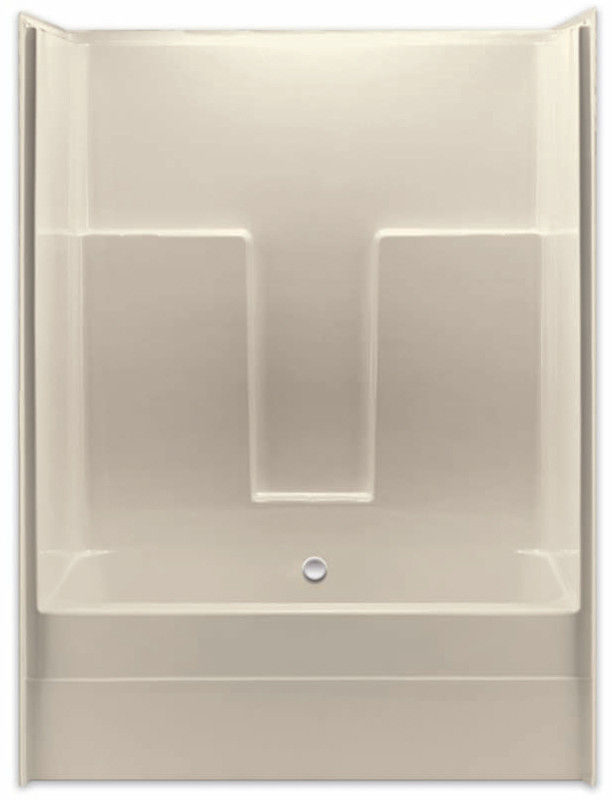 Aquarius Gelcoat 54 X Residential Tub Shower Combination Smooth Wall W
