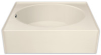 Aquarius 60 x 36 Residential Gelcoat Oval Soaking Tub - Drain Right - GGT36R