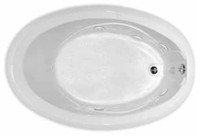 Aquarius RN 6040 | 58.75W x 39D x 21H | Five foot oval drop-in acrylic soaker tub