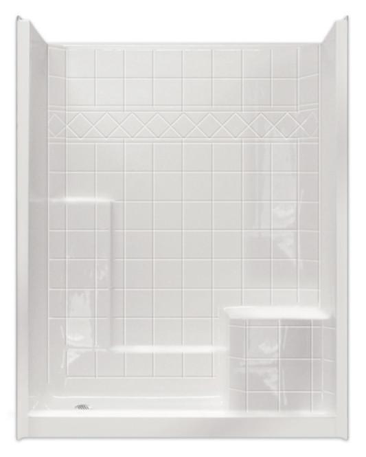 Remodel 3 Piece Shower Stall Shower Surround 60 x 33