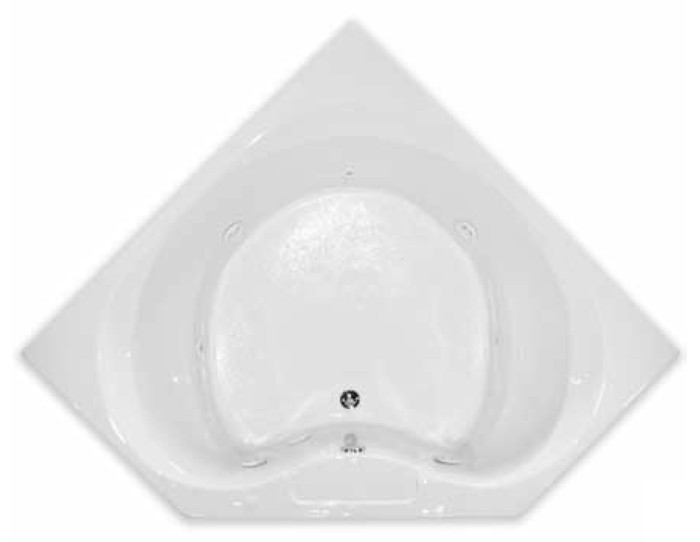 aquarius contractor advantage series 60 x 60 drop in acrylic soaker tub rn ibiza