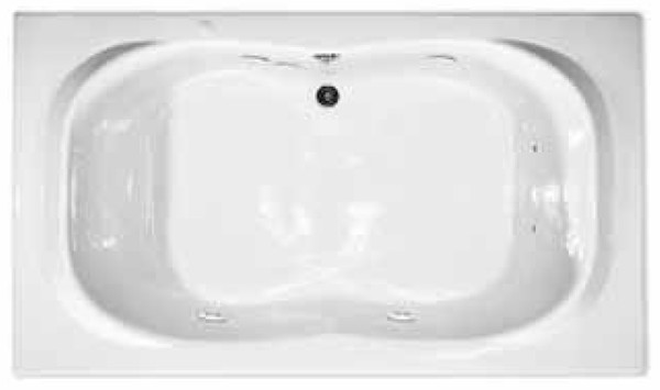 Aquarius RN RIO 7242 | 72W x 42D x 21.5H | Six foot Premium Acrylic Soaker tub | Drain Location: Center