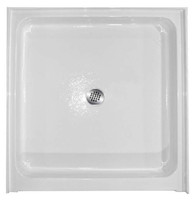 "Aquarius AB 4242 | 42W x 42D x 7.25H | 42 inch Premium Acrylic shower pan | 6"" threshold 