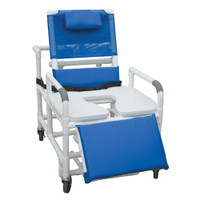 Bariatric Reclining Shower Chair With Soft Seat Deluxe Enlongated