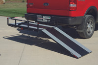 "PVI TrekAwayᆴ HITCH MOUNT CARRIER W/ 4' RAMP, 6"" HIGH GUARD RAIL - MT3000"