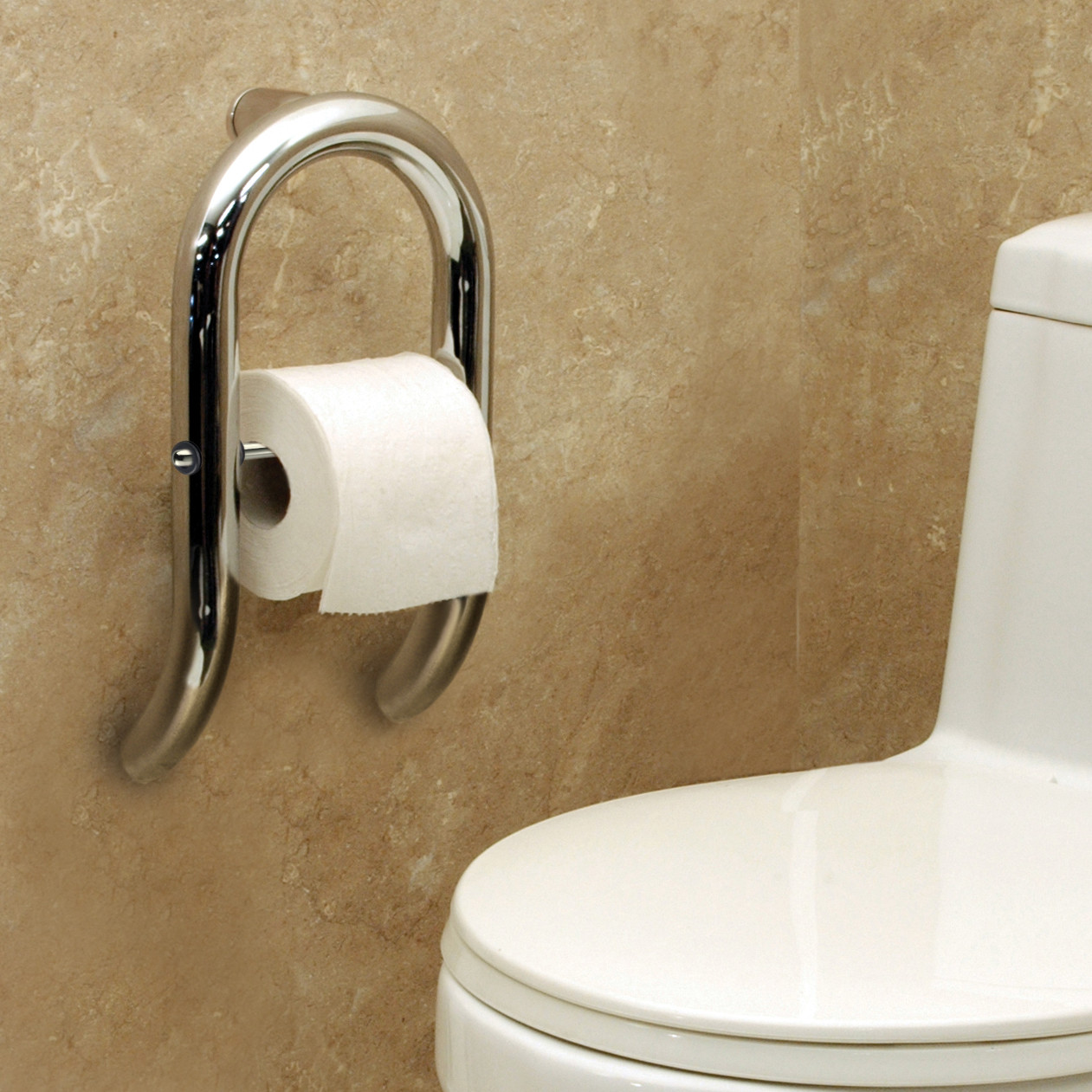 Roll Holder Grab Bar by Invisia | Integrated support rail ...