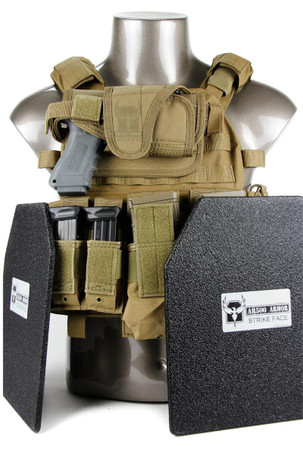 Warrior DCS (Dynamic Combat System) Plate Carrier with Body Armor & Pouches