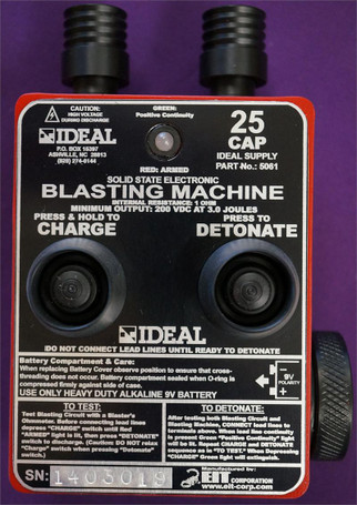 Ideal 25 Cap Blasting Machine with Integrated Continuity Indicator