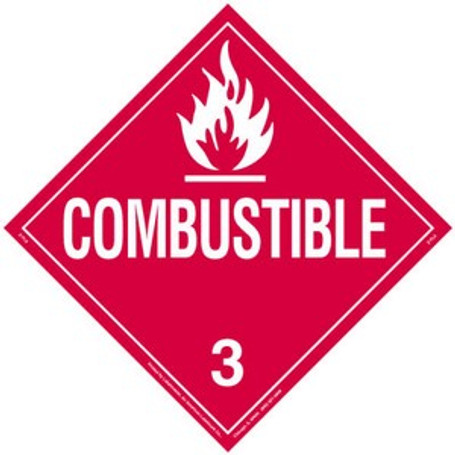 Combustible Magnetic Placard