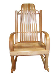 Amish Bentwood Rocker - Solid Hickory