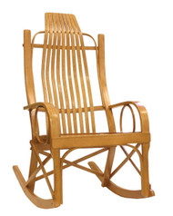 Amish Bentwood Rocker - Solid Oak