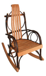 Child's Amish Bentwood Rocker - Hickory & Oak