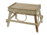 Amish Bentwood Foot Stool - Solid Wormy Maple