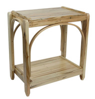 Amish Bentwood End Table - Solid Wormy Maple