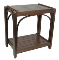 Amish Bentwood End Table - Solid Walnut