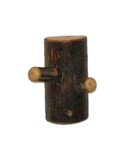 Rustic Hickory Double Robe Peg Hook