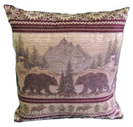 Premium Rustic Throw Pillow - Bear Mountain