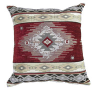 Premium Rustic Throw Pillow - Red Diamond