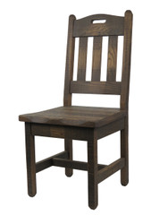 Barnwood Dining Chairs Handle Back