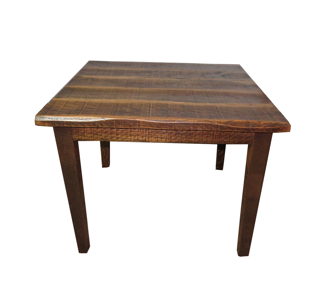 Rustic Distressed Oak 30 Quot High Kitchen Table With 40x40 Top
