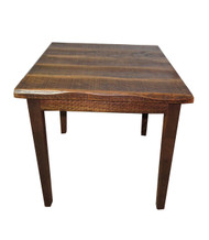 "Rustic Distressed Oak 36"" High Pub Table with 40X40 Top"