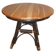 "Rustic Hickory 36"" Round Kitchen Table"