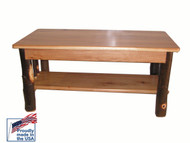 Rustic Solid Hickory Coffee Table