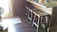 "Barnwood Bar Stools 24"" - Saddle Seat - Customer Picture"
