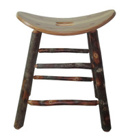 "Rustic All Hickory Bar Stools 24"" - Saddle Seat"