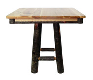 "Rustic Hickory 36"" Square 30"" Dining Table- Square Base"